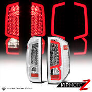 For 14-21 Toyota Tundra Led Chrome Housing Clear Lens Bolt-on Tail Light Lamps