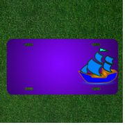 Custom Personalized License Plate With Add Names To Sailboat Two-master Ship
