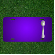 Custom Personalized License Plate With Add Names To Spoon Cutlery Flatware