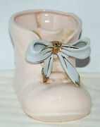 Vintage 50andrsquos Napcoware Ceramic Planter Made In Japan Baby Girl Pink Shoe C-2284