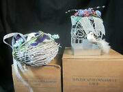 Lot Of 2 Avon Winter Nest Bird Ornaments Nest And Cage 2000