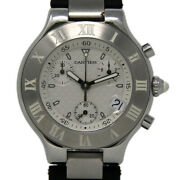 Must 21 Chronoscaph W10184u2 38mm Stainless Steel And Rubber 1yrwty I3031