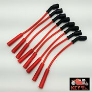 Ls Truck Engine 8.5mm High Performance Spark Plug Wires Red 12 4.8 5.3 6.0 6.2