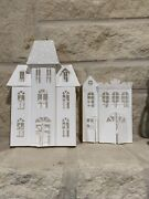 Stampin Up Shimmer Village Christmas Winter Paper Houses Lot C