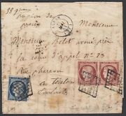 France 1849/50- Cover With Yv Nr. 4 + 6 In Pair. Marged. From Alban.vg Mv-7306
