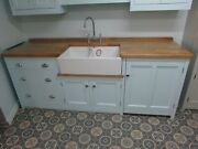 2330 X 700 Freestanding Sink Unit And Appliance Housing 800mm Belfast Sink Drawers