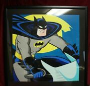 Batman On Batcycle Limited Edition Lithograph - Warner Brothers Studio Store
