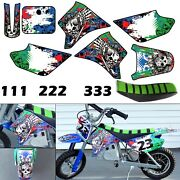 Burly Effects Graphics Kit For Razor Mx350 And Mx400 Dirt Bike Stickers Seat Cover