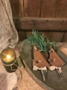 Primitive Christmas Tree Grubby Bowl Fillers Set Of Two Ornies Cabin Early Look