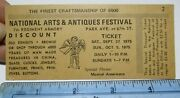 1975 National Arts And Antiques Festival Park Av And 67th St New York Nyc Ticket