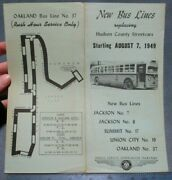 1949 New Bus Lines Replace Hudson County Trolleys Hoboken Union City Nj Schedule