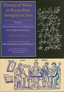 History Of Music In Russia From Antiquity To 1800 Vol 1