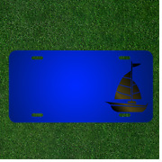 Custom Personalized License Plate With Add Names To Sailboat Boat Sail