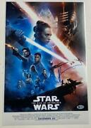 Jj Abrams Star Wars Rise Of Skywalker Signed 12x18 Photo Poster Autograph Bas A