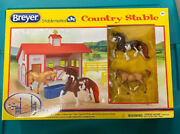 Breyer Stablemates Country Stable With 2 Horses New Sealed Package