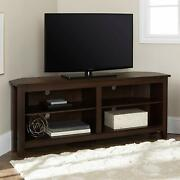 We Furniture Simple Farmhouse Wood Stand With Storage Cabinets For Tv's Up To 56