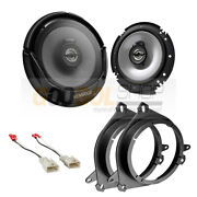 Kenwood Car Speakers 6.5 For Front Door + Adapters For Select Toyota Vehicles