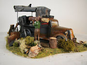 Rare And Unique Logging Wench Truck Diorama - Custom Built And Weathered - Lot 3