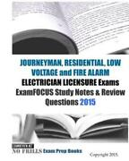 Journeyman Residential Low Voltage And Fire Alarm Electrician Licensure E...