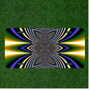 Creative Personalized Car License Plate With Abstract Artwork Fractal