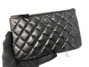 Nwot Rare Small So Black Reissue O-case / Cosmetic Pouch In Calfskin