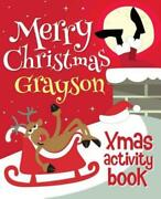 Merry Christmas Grayson - Xmas Activity Book Personalized Childrenand039s Acti...