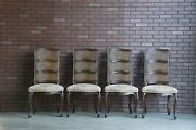 French Provincial Dining Chairs Cane Ladderback Dining Side Chairs Set Of 4