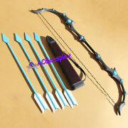 League Of Legends Ashe Bow Arrow And Arrow Quiver Prop Pvc Lol Cosplay Prop