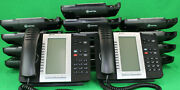 Lot Of 15 Mitel 5330 Ip Voip Phones W/ Base Handsets And Stands