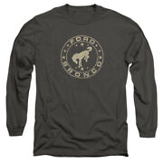 Ford Bronco Vintage Star Licensed Adult Menand039s Long Sleeve Tee Shirt Sm-3xl
