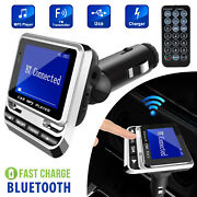 1.4 Inch Wireless Car Bluetooth Fm Transmitter Aux Usb Charger Hands-free Call