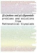 Functions And Polynomials Problems And Solutions From Mathematical Olympiad...