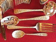 Antique Excellent Sterling Silver S Kirk And Son Repousse 44 Piece Flatware