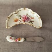 Royal Crown Derby Posies Jam/butter Dish With Spreader Derby Posies
