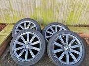 Set Of 4 Genuine Range Rover Velar 21and039 Alloy Wheel 8.5jx21 J8a2-1007-ja And Tyre