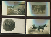 20 Vintage Early 1900and039s Real Photo Horses And More Post Cards From Nice Collection