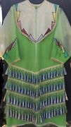 Native American Juniors/teens Green Jingle Dress - Preowned - Great Condition