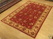 7x10 Hand Knotted High Quality Afghan Ziegler Rug _vegetable Dyes Soft Fine Wool