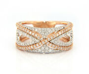 New From Gabriel And Co 0.66ctw Diamond French Pav Set Fancy Band In 14kt