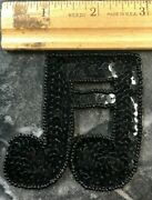 Vintage Sequins Musical Note 1980's Patch- Classical Sheet Passion Beethoven