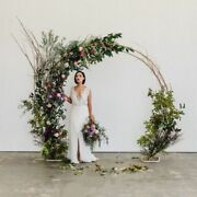 Wedding Double Stands Arch Round Rings Backdrop Weddings Party Decorations Stage
