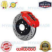 Wilwood Dpha Front Caliper And Rotor Kit Red For Honda / Acura 140-12996-dr