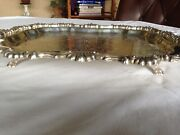 Vintage F B Rogers Silver Co Silver On Copper 6720 Tray