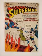 Superman 76 Vg+ 4.5 1952 Batman Cover And App Learn Each Otherand039s Identity