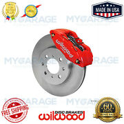 Wilwood Dpha Front Caliper And Rotor Kit Red For Honda / Acura 140-12996-r