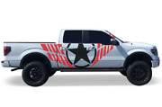 Decal For Ford F150 Military Star Avenger Red - Black Graphics Vinyl Stickers