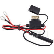 Battery Terminal Quick Connect Motorcycle Clip Charger Cable Adapter Plug