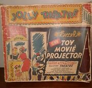 1947 Excel Jolly Theatre 16mm Projector -stage Screen Film