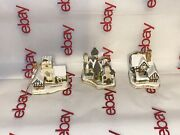 David Winter Cottages - Christmas Ornaments Lot Of 3 - 1991 - 1990