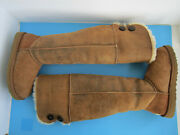 Ugg Over The Knee Bailey Button Bomber Jacket Chestnut Boots Sz 8